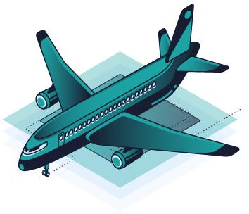 Ikona łatwego dojazdu z lotniska do Compact Office
